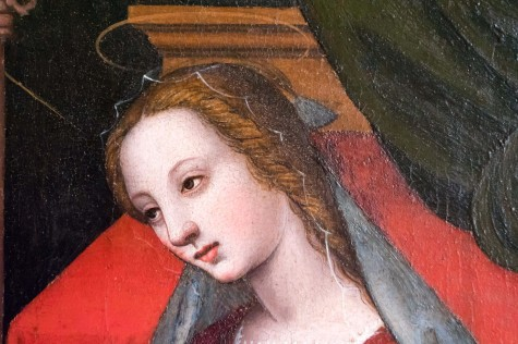 Detail, Nelli's Annunciation: Veiled