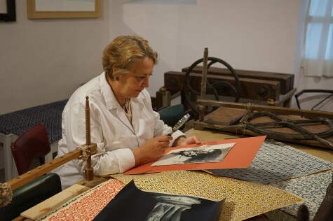 Conservator Beatrice Cuniberti with Colliva