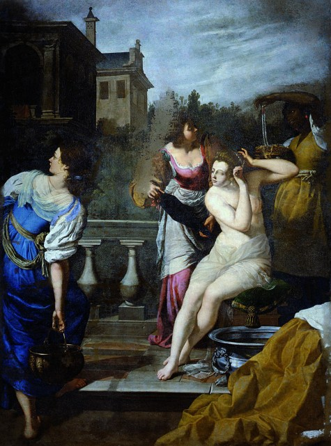 Artemisia's David and Bathsheba, post restoration