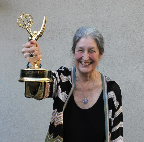 Emmy in hand