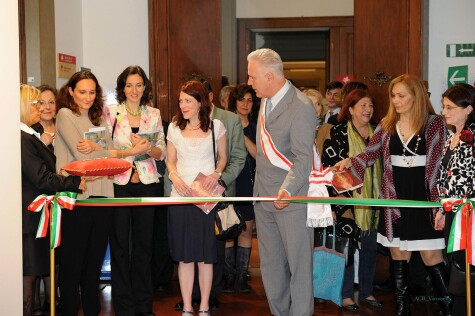 Ribbon cutting for Pincherle's 'Colors'